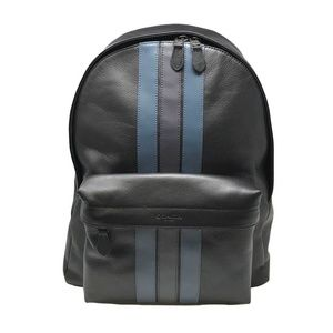 Coach Men's Charles Backpack Black/Navy Leather